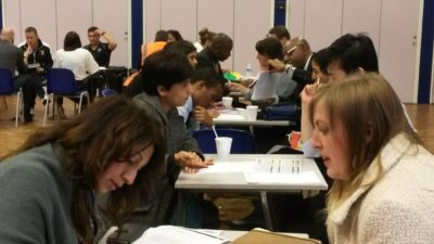 """Photo of People Doing """"Speed Dating"""" at Community Workshop"""